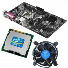 Kit Placa de baza ASRock H81 Pro BTC, 4th gen, DDR3, USB 3.0, Intel Core i3 4150 3.5GHz, 2 nuclee, Cooler inclus