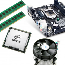 Kit Placa de baza GA-H81M-S, Intel Core i5 4570 3.2GHz, 4 nuclee, 16GB DDR3, Cooler inclus