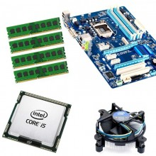 Kit Placa de baza GIGABYTE B75-D3V, DDR3, USB 3.0, Intel Core i5 3470 3.2GHz, 16GB DDR3, Cooler Intel Stock