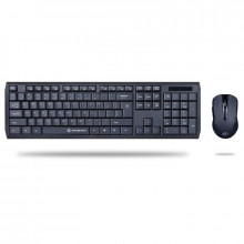 Kit wireless tastatura si mouse Gofreetech GFT-S005 negru