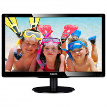 "Monitor LED 18.5"" Philips 196V4LAB2, 5ms, 1366x768, VGA, DVI, Cabluri incluse"