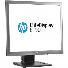 Monitor LED HP EliteDisplay E190i, 1280x1024, DVI, VGA, DisplayPort, Cabluri incluse