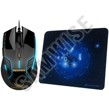Mouse Gaming Newmen N500 Black, 1600 DPI, Selector DPI + Mousepad