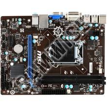 Placa de baza MSI H81M-P33, 1150, DDR3, PCI Express x16, DVI