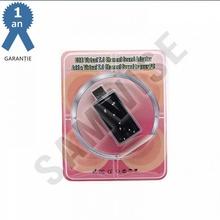 Placa de sunet USB cu control pentru volum, 7.1