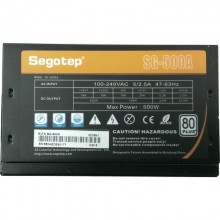 Sursa Segotep SG-500A 500W, 6x SATA, 3x Molex, 2x 6+2 pin, Eficienta 85%, PFC activ, Open box