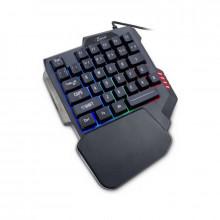 Tastatura Gaming Eherno KB-3035, iluminare RGB, USB, 35 taste