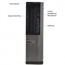 Calculator Dell 790 DT, Intel DualCore G860 3GHz, 4GB DDR3, 250GB, HD Graphics 2000, DVD-RW