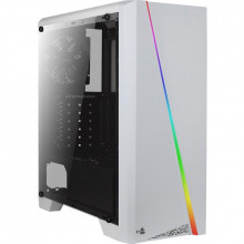 Carcasa Gaming Aerocool Cylon RGB White, Middle Tower, RGB LED, Card Reader