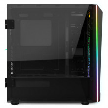 Carcasa Gaming Gamdias M1A, MiddleTower, USB 3.0, Panou transparent, Vent. 2x 120mm LED RGB