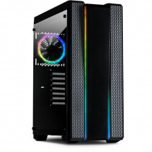 Carcasa Gaming Inter-Tech S-3901 Impulse, 2x USB 3.0, 120mm LED RGB, Panou transparent