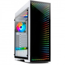 Carcasa Gaming Inter-Tech X-908 Infini2 Alba, USB 3.0 Type-C, Vent. 3x 120mm LED RGB, Panou transparent