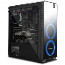 Carcasa Gaming Segotep Halo 7 Plus, Iluminare LED, USB 3.0, Panou Transparent, MiddleTower, Vent. 4x 120mm