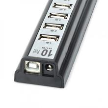 Hub USB 2.0, 10 porturi, diverse culori