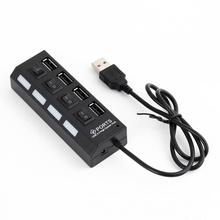 Hub USB 2.0, 4 porturi, negru