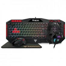 Kit Gaming Gamdias POSEIDON M2: Tastatura + Mouse + Casti + Mousepad