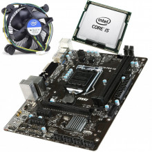 KIT Placa de baza MSI H81M PRO-VD + Intel Core i5 4460 3.2GHz + Cooler CPU
