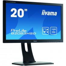"Monitor LCD IIYAMA ProLite 19.5"" B2083HSD , Grad A, 1600x900, 5ms, VGA, DVI, Cabluri Incluse"