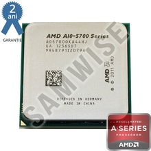 Procesor AMD Trinity, Vision A10-5700 3.4GHz (Turbo 4GHz), Quad Core, Cache 4MB, Video Radeon HD 7660D