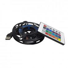 Rola 2m LED multicolora, USB, cu telecomanda