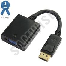Adaptor DeTech DisplayPort tata - VGA mama, Negru