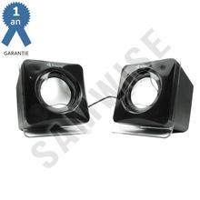 Boxe Kisonli V410, 2x 3W, alimentare USB, 1x jack 3.5mm, Negru