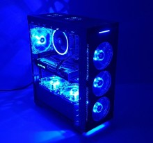 Calculator Halo Blue, Intel Core i5 4570 3.4GHz, 8GB DDR3, SSD 180GB, HDD 500GB, Video ATI RX 580 Nitro 8GB DDR5