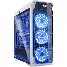 Carcasa Gaming Segotep LUX II V2 White, MiddleTower, Panou transparent, Iluminare LED