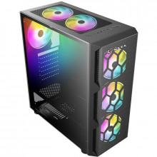 Carcasa Gaming Starfire RGB Tempered Glass, USB 3.0, 4x Vent. 120 mm LED RGB
