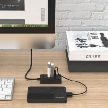 Hub USB Orico W5P-U3, 4 porturi, USB 3.0, negru