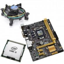 KIT Placa de baza ASUS H81M-K, 2x USB 3.0, 2x SATA III, Intel Core i5 4590 3.3GHz, Cooler inclus