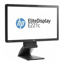 "Monitor LED 21.5"" HP EliteDisplay E221C, Grad A, 1920x1080, 7ms, VGA, DVI, CAMERA WEB, Cabluri Incluse"