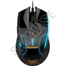 Mouse gaming Newmen N500 Black, 1600 dpi, Wired, USB, 4000 FPS