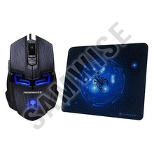 Mouse Gaming Newmen N6000 Black, Wired, USB, 2000 DPI + Mousepad MP235