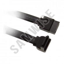 Cabluri SATA, lungime 35cm, pentru HDD, SSD, Unitati Optice, mufa unghi 90 grade, culoare neagra
