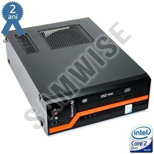 Calculator GATEWAY DS10G SFF, Intel Core 2 Duo E8500 3.16GHz, 4GB DDR3, 250GB, Video Intel GMA X4500 DVI, DVD-ROM