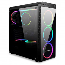 Carcasa Gaming Segotep Hyperion-T Black, USB 3.0, Panou Transparent