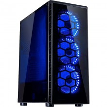 Carcasa Inter-Tech CXC2 Black, USB 3.0, Vent. incluse 3x 120mm LED Albastru