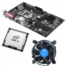 Kit Placa de baza ASRock H81 Pro BTC, 4th gen, DDR3, USB 3.0, Intel Core i5 4460 3.2GHz, 4 nuclee, Cooler inclus