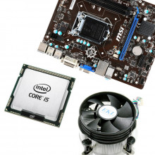 Kit Placa de baza MSI H81M-P33, Intel Core i5 4570 3.2GHz, 4 nuclee, Cooler inclus
