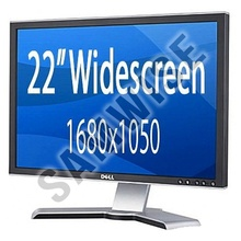 "Monitor LCD 22"" Dell Ultrasharp Grad A, P2208WFPT, Widescreen, 1680 x 1050, 5ms VGA, DVI, Cabluri incluse"