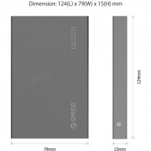 Rack extern Orico 2518S3, USB 3.0, 2.5 inch, SATA, Gray