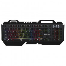 Tastatura Gaming FanTech Zexter K610 Metal, Iluminata RGB, USB, 8 taste multumedia