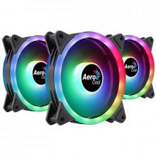 Ventilator Aerocool Duo 12 Pro ARGB 120mm Three Fan Pack cu controller H66F