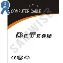 Cablu DeTech HDMI tata - HDMI tata, 5m, Negru