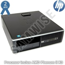 Calculator Incomplet HP Compaq Pro 6005 SFF cu Procesor Inclus AMD Phenom II X3 B75, 3GHz, DDR3, SATA2, VGA, DisplayPort