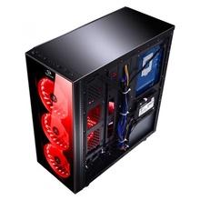 Carcasa Gaming Redragon Sidewipe Black, USB 3.0, controller RGB cu telecomanda