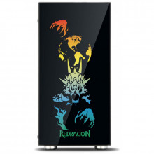 Carcasa Gaming Redragon SteelJaw Pro, MiddleTower, Panou transparent, USB 3.0, 4x 120mm, RGB Led