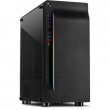 Carcasa Inter-Tech B-42 RGB, MiddleTower, USB 3.0, Panou transparent
