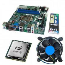 Kit Placa de baza Acer H61H2-AD, DDR3, Intel Core i3 2120 3.3GHz, 2 nuclee, Cooler inclus